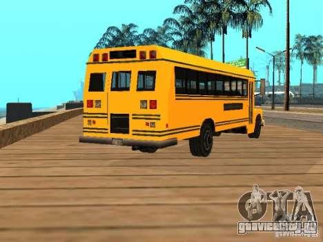 School bus для GTA San Andreas вид сзади слева