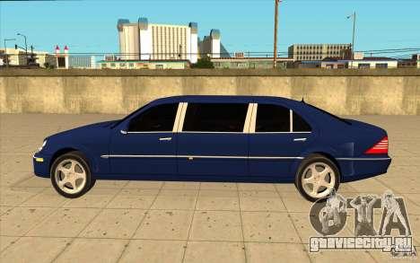Mercedes-Benz S600 Pullman W220 для GTA San Andreas вид слева