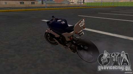 Yamaha YZF-R6 Street Fighter для GTA San Andreas вид сзади слева