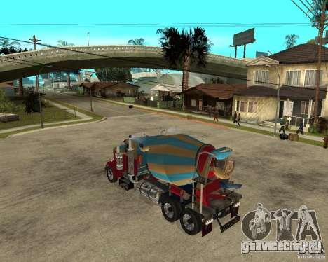 Kenworth W900 CEMENT TRUCK для GTA San Andreas вид слева