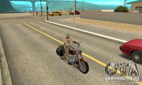 Harley Davidson FLSTF (Fat Boy) v2.0 Skin 2 для GTA San Andreas вид справа