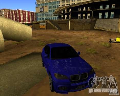 BMW X6M для GTA San Andreas вид изнутри