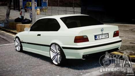 BMW e36 M3 для GTA 4 вид сзади слева