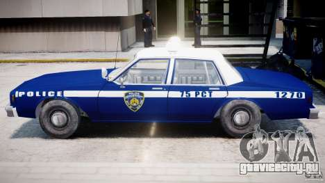 Chevrolet Impala Police 1983 [Final] для GTA 4 вид сверху