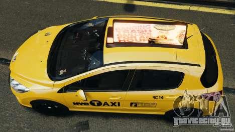 Peugeot 308 GTi 2011 Taxi v1.1 для GTA 4 вид справа