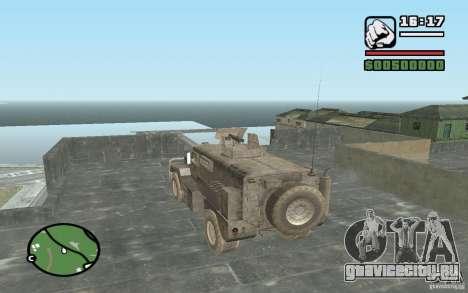 Военный грузовик для GTA San Andreas вид слева
