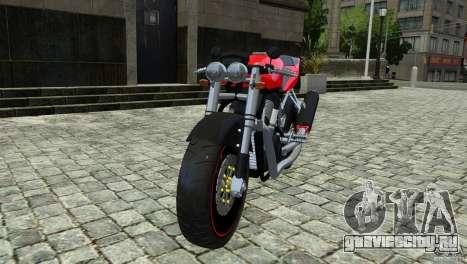 Suzuki Street Fighter Custom для GTA 4 вид сзади слева