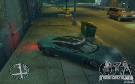 Spyker C8 Aileron для GTA 4 вид изнутри