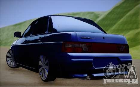 ВАЗ 2110 Качественная для GTA San Andreas вид сзади слева