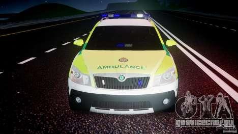 Skoda Octavia Scout Paramedic [ELS] для GTA 4 салон