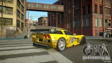 Chevrolet Corvette C6-R v2.0 для GTA 4 вид сзади слева
