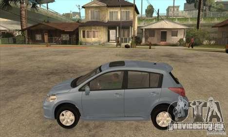 Nissan Tiida для GTA San Andreas вид слева