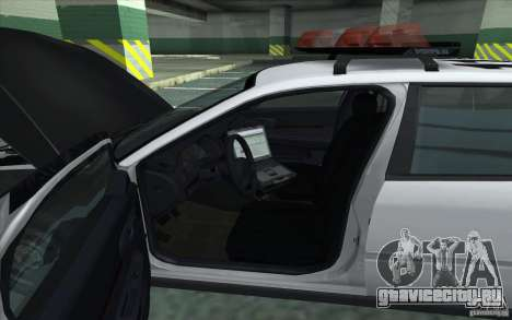 Chevrolet Impala 2003 SFPD для GTA San Andreas вид сзади слева