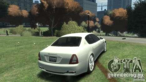 Maserati Quattroporte для GTA 4 вид справа