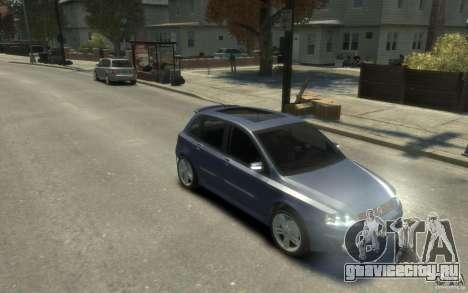 Fiat Stilo Sporting 2009 для GTA 4 вид сзади