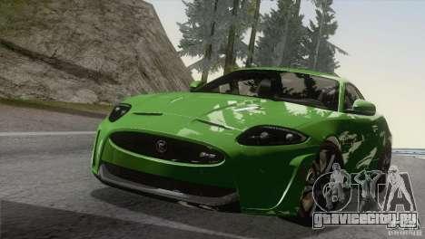 Jaguar XKR-S 2011 V1.0 для GTA San Andreas вид изнутри