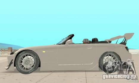 Honda S2000 Cabrio West Tuning для GTA San Andreas вид сзади слева