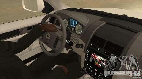 Volkswagen Touareg R50 для GTA San Andreas вид изнутри