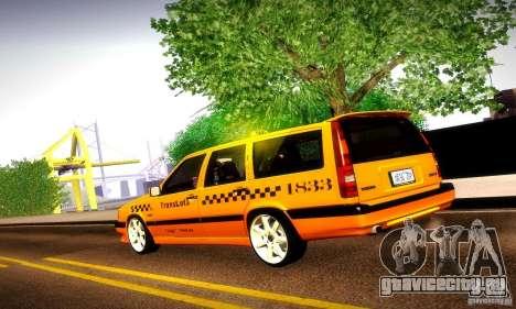 Volvo 850 R Taxi для GTA San Andreas вид слева