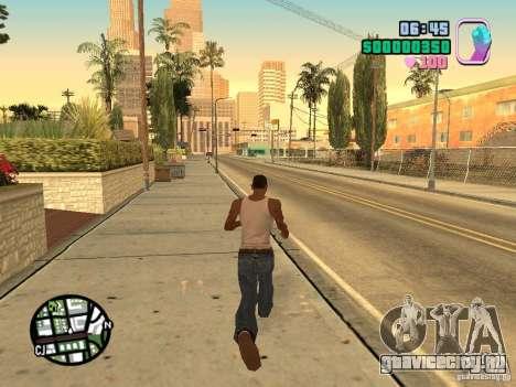 Vice City Hud для GTA San Andreas второй скриншот