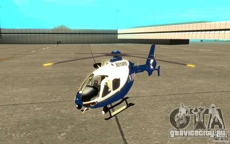 NYPD Eurocopter By SgtMartin_Riggs для GTA San Andreas вид слева