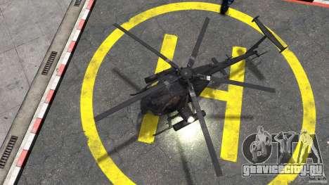 New AH-6 Little Bird для GTA 4 вид справа