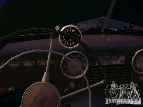 ГАЗ М 20 Победа 1956 для GTA San Andreas вид изнутри