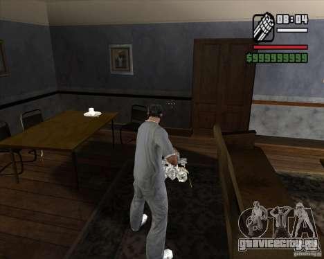 Хромовый миниган для GTA San Andreas третий скриншот