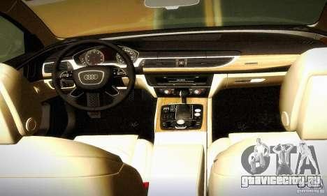 Audi A6 2012 для GTA San Andreas вид сверху
