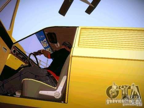 ГАЗ 24-02 Волга Фургон для GTA San Andreas вид изнутри