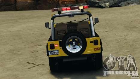 Jeep Wrangler 1988 Beach Patrol v1.1 [ELS] для GTA 4 вид снизу