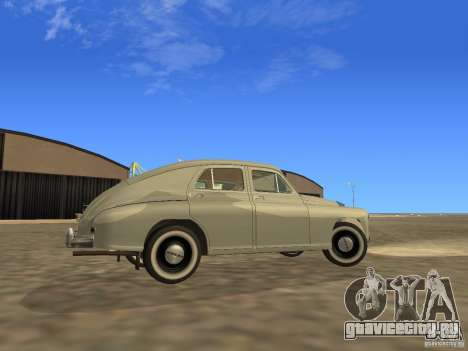 ГАЗ М20 Победа 1949 для GTA San Andreas вид изнутри