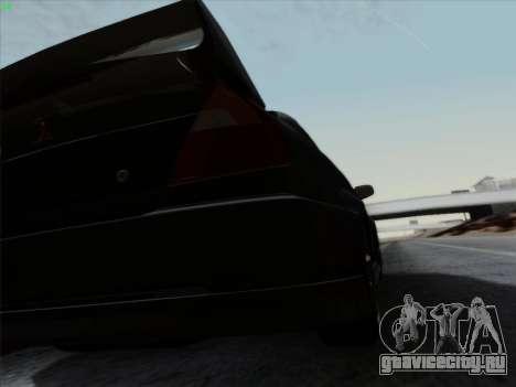 Mitsubishi Lancer Evolution VI для GTA San Andreas вид сверху