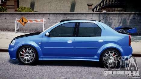 Dacia Logan 2008 [Tuned] для GTA 4 вид сзади слева
