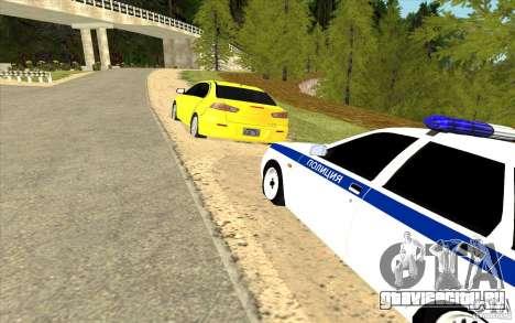 ВАЗ 2170 ДПС Самара для GTA San Andreas вид справа