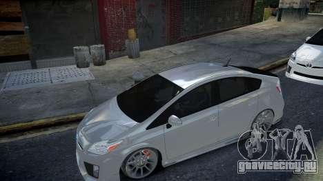 Toyota Prius III для GTA 4 вид сзади слева