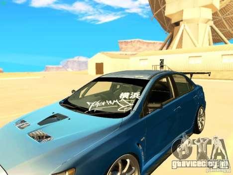Mitsubishi Lancer Evolution X Time Attack для GTA San Andreas вид сзади