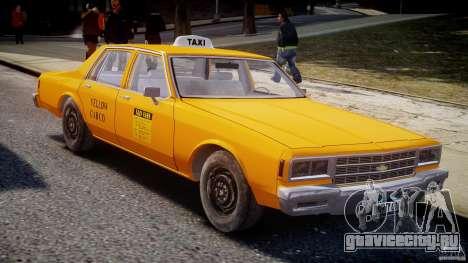Chevrolet Impala Taxi v2.0 для GTA 4 вид изнутри