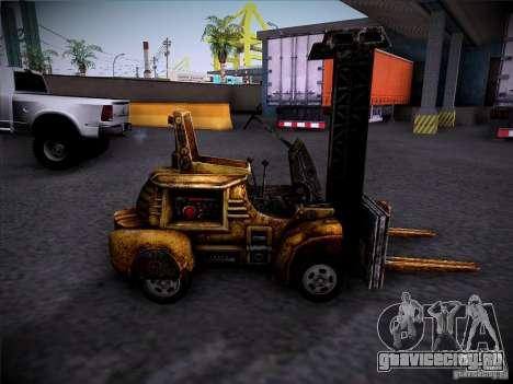 Автопогрузчик из TimeShift для GTA San Andreas вид слева