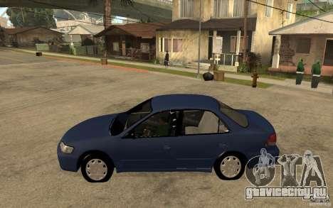 Honda Accord 2001 beta1 для GTA San Andreas вид слева