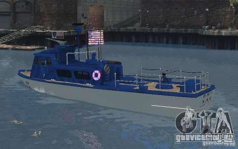 Coast Guard Patrol для GTA 4 вид сзади слева