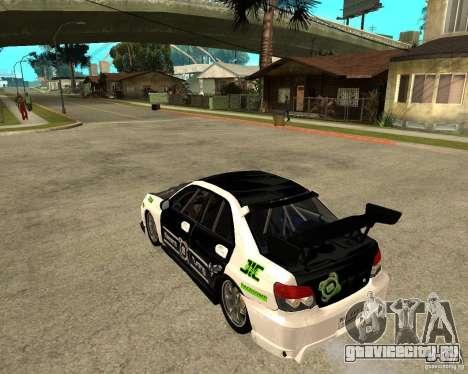 Subaru Impreza Elemental Attack для GTA San Andreas вид слева
