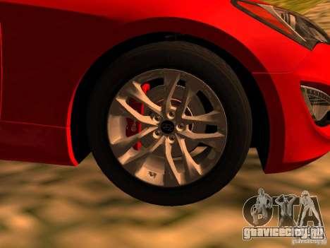 Hyundai Genesis Coupé 3.8 Track V1.0 для GTA San Andreas вид сзади слева