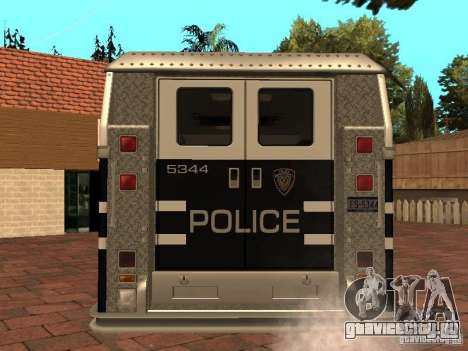 Машина Спецназа HD для GTA San Andreas вид сзади слева