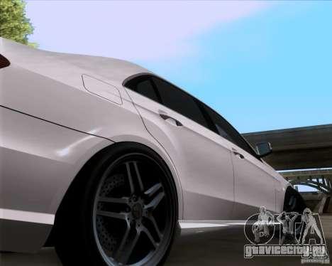 Mercedes-Benz E63 AMG V12 TT Black Revel для GTA San Andreas вид справа