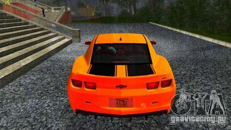 Chevrolet Camaro SS 2010 для GTA Vice City вид сзади слева
