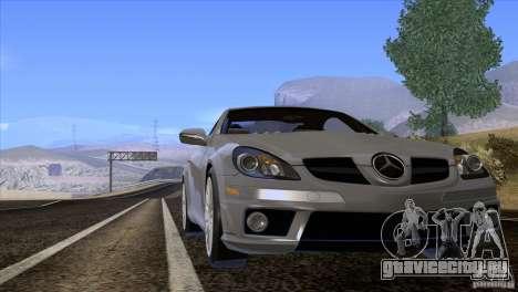 Mercedes-Benz SLK 55 AMG для GTA San Andreas вид изнутри