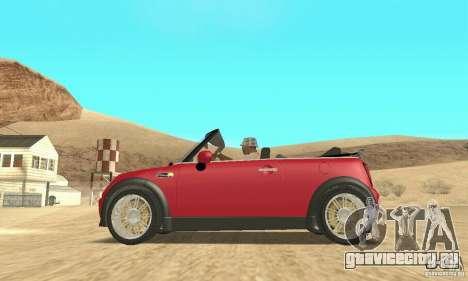 Mini Cooper Convertible для GTA San Andreas вид справа