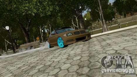 BMW 135i HellaFush для GTA 4 вид сзади слева