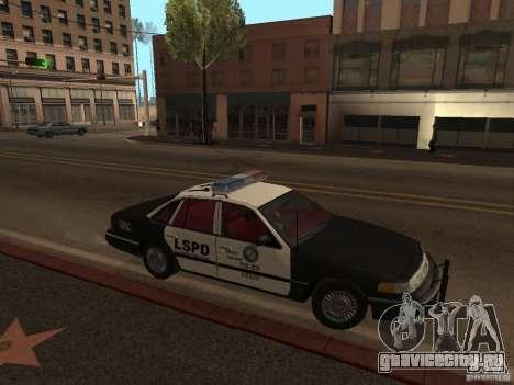 Ford Crown Victoria LSPD для GTA San Andreas вид слева